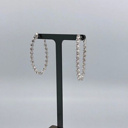 Spectacular 18 diamond Hoop