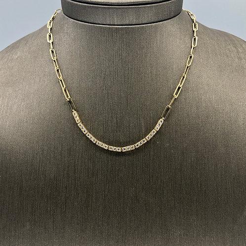 Diamond Tennis Gold Link Necklace