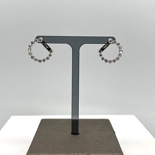 Open Diamond Spiral Earrings