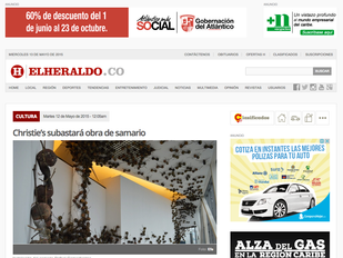 """""""Christie´s subastará obra de Samario"""" - Periódico El Heraldo"""