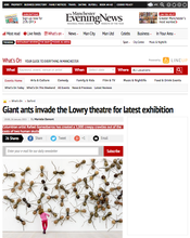 "Giant ants invade the Lowry theatre - Post ""Manchester Evening News"""