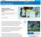 """""""Boom del arte Colombiano en Nueva York"""" - Periódico El Tiempo"""