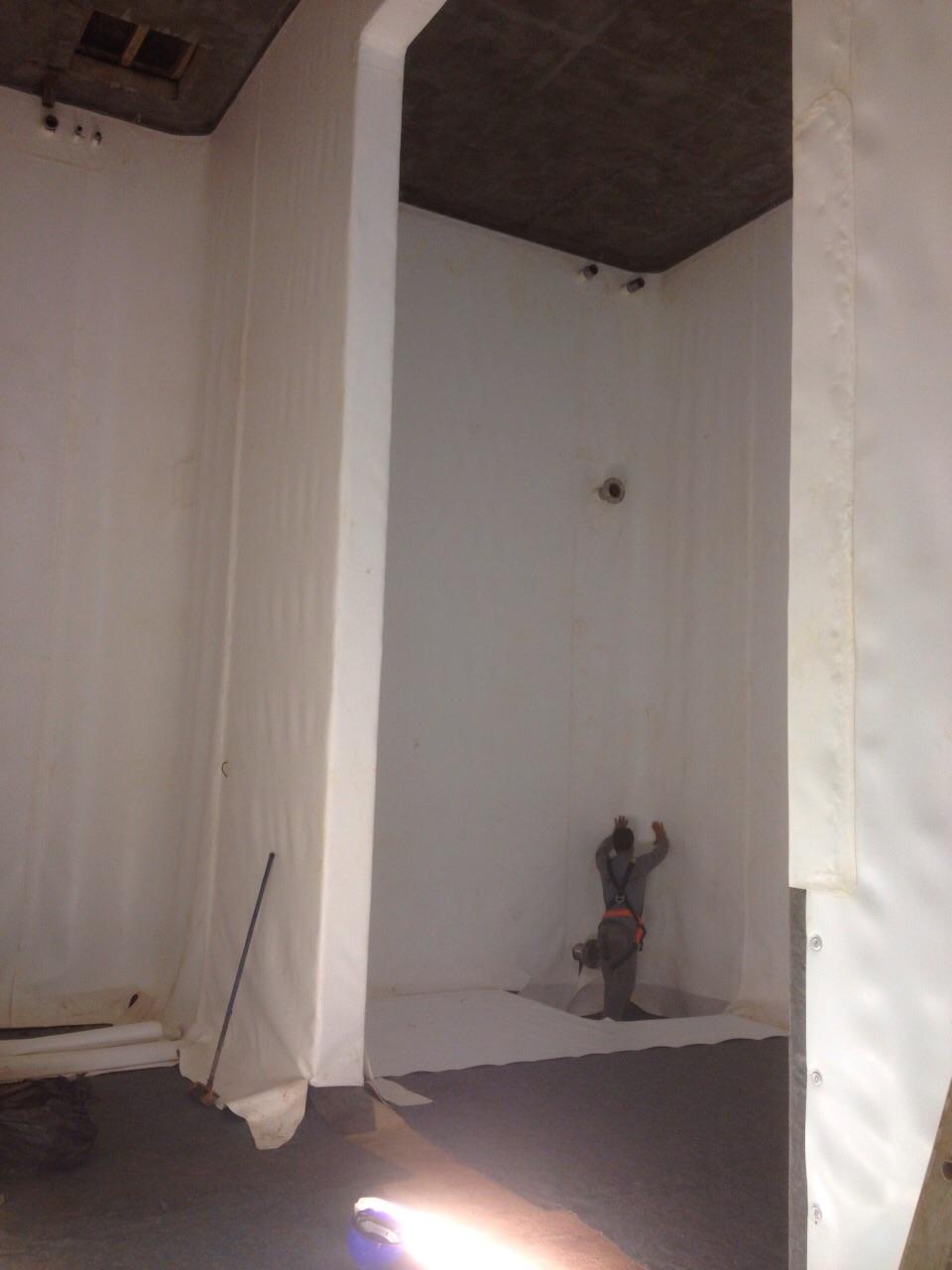 Reservatório manta de PVC