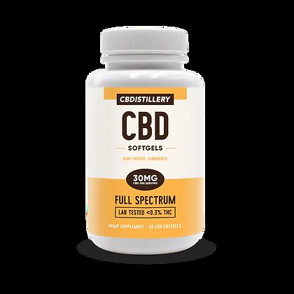 CBDistillery Full Spectrum CBD Infused Softgels 30 mg-30ct