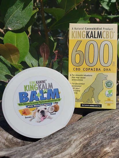 KING KALM 600mg CBD with Copaiba Essential Oil and DHA