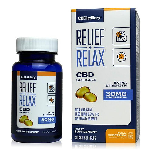 30 Mg Full-Spectrum CBD Infused Softgels (30 Count)