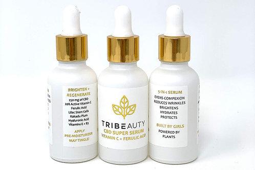 TriBEAUTY CBD Vitamin C & Ferulic Acid Super Serum | Brighten & Regenerate