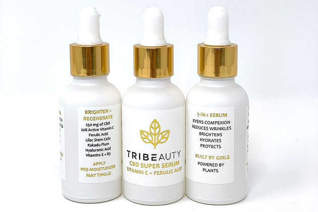 TriBEAUTY CBD Vitamin C & Ferulic Acid Super Serum   Brighten & Regenerate