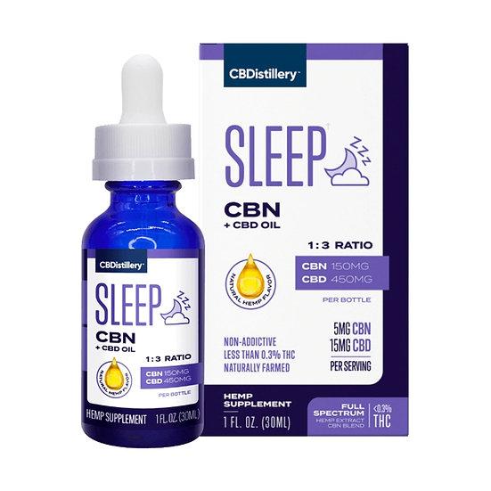 CBN + CBD Sleep Tincture 1:3 - 150mg CBN + 450mg CBD- 30ml