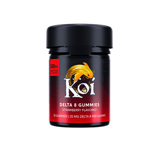 Koi Delta-8 THC Strawberry Gummies – 500mg