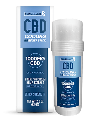 Broad Spectrum CBD Roll Cooling Relief Stick - 1000mg