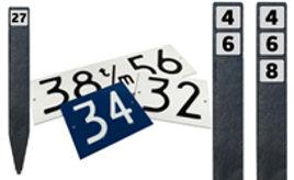 Huisnummerplanken Duvano