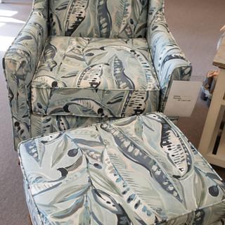 Henry Mist Club Chair & ottoman