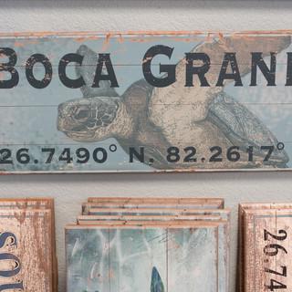 Boca Long Lat Sign