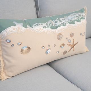 Beach Seashell Pillow
