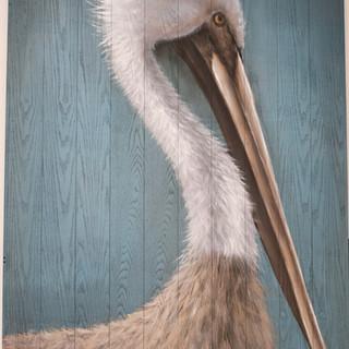 Pelican Painting on Wood