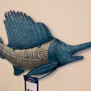 Sail Fish Metal Wall Art