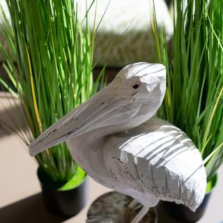 Pelican in Grass Decor