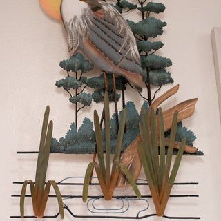 Heron Metal Wall Art