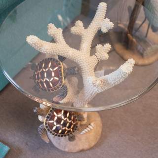 Turtle Side Table with Light