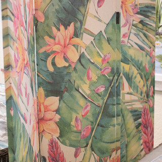 Tropical Privacy Screen Back