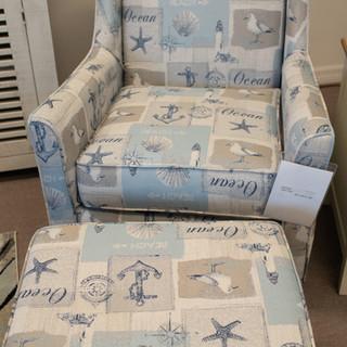 Deal Blue 60 Club Chair
