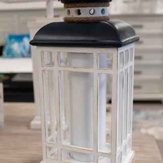 Navy Lantern Lamp