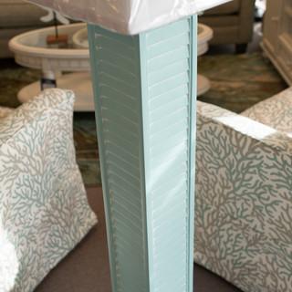 Shutter Floor Lamp Aqua