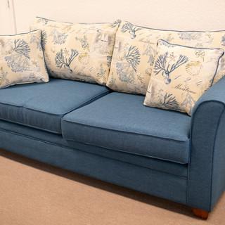 Vail Blue 2 Tone Sofa