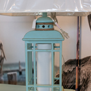 Glacier Blue Lantern Lamp