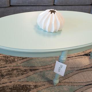 Aqua Oval Coffee Table