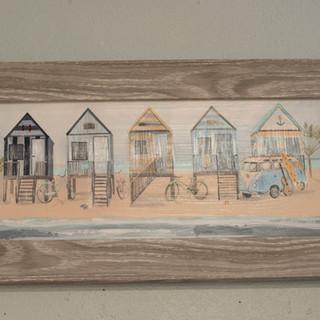 Beach Cabin Print Mini