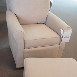 Swivel Glide Chair & Ottoman