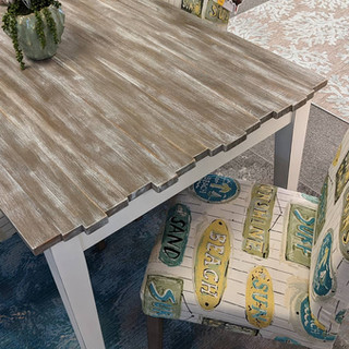 Picket Fence Table & Parsons Chairs