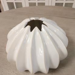 White Coastal Vase