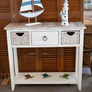 Two Basket Console Table
