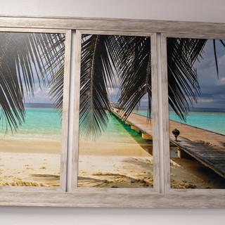 Beach Dock Triptych