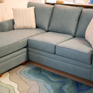 Blue Chaise Sofa
