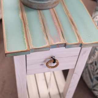 Picket Fence Side Table Blue