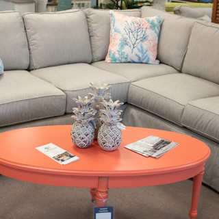 Devin Sectional w_Coral Accents