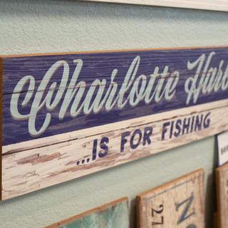 Charlotte Harbour Print on Wood
