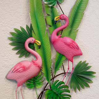 Flamingo Metal Wall Art