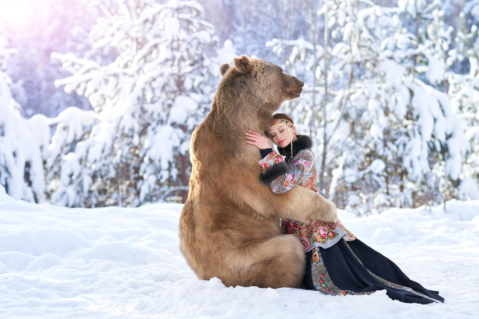 Медведь Степан зимой