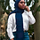 Thumbnail: Blue Striped Chiffon