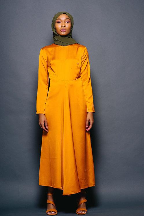 Autumn Satin Dress
