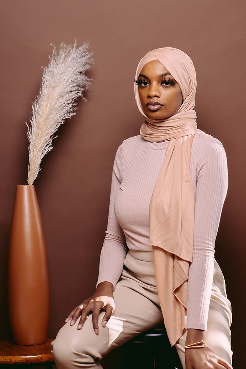 Peach instant hijab