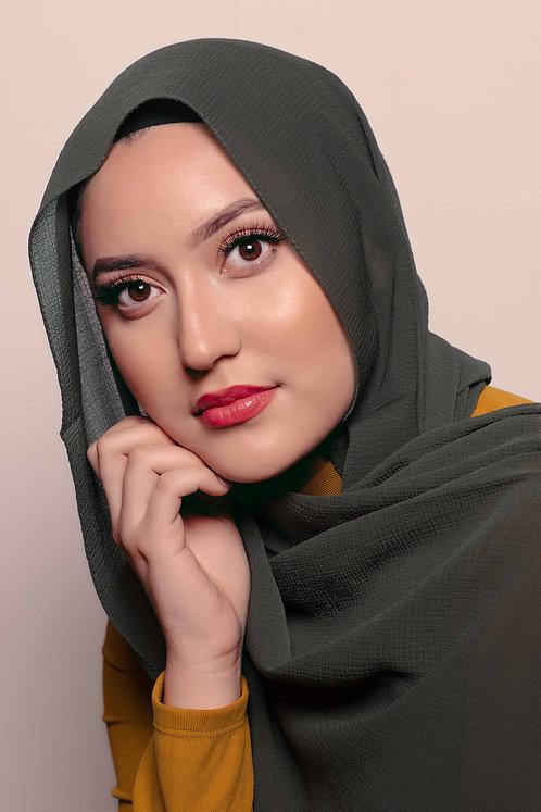 Olive Crinkle Hijab