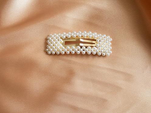 Rectangle Pearl Pin