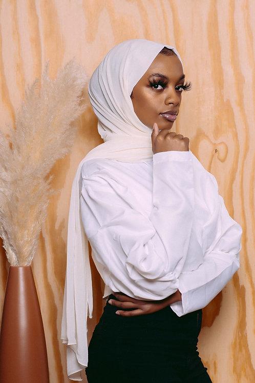 Cream Crinkle Hijab
