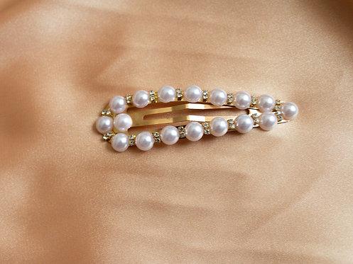 Jeweled Pearl Pin